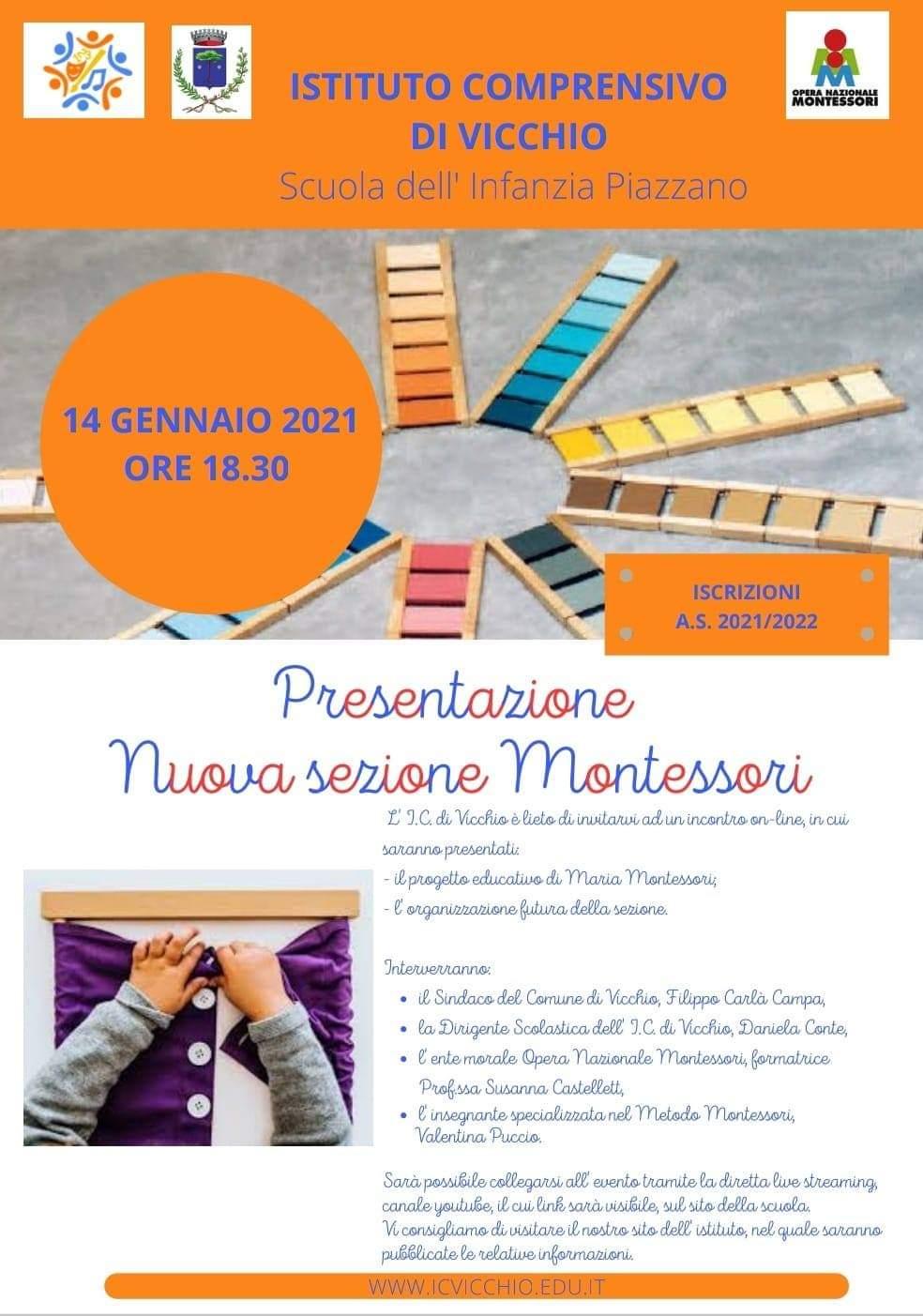 Vicchio - Il metodo Montessori entra nella scuola di Vicchio