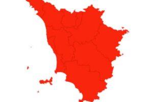 Toscana in zona rossa