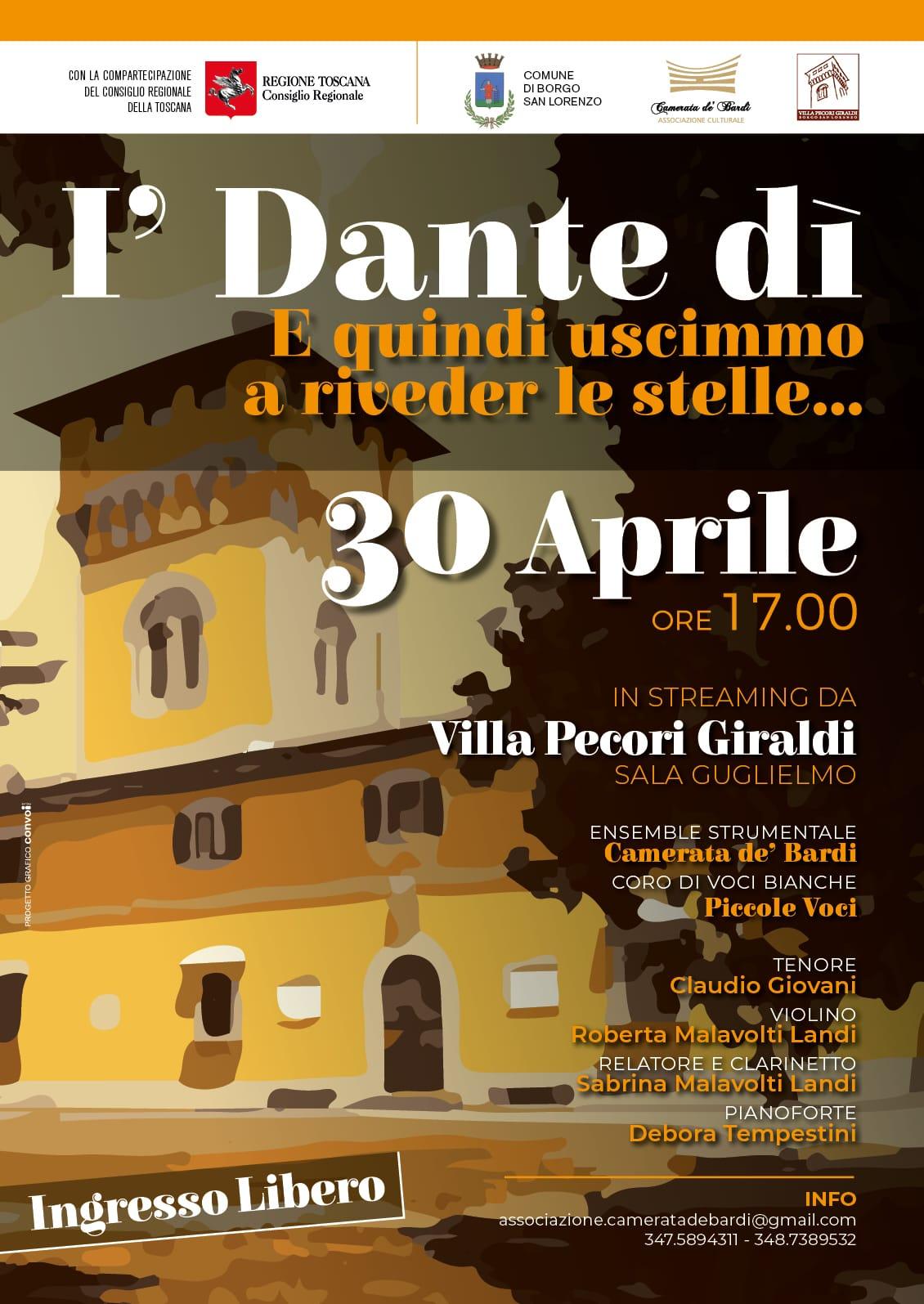 Locandina I'Dante di Capodanno Toscano 2021 30.04.2021