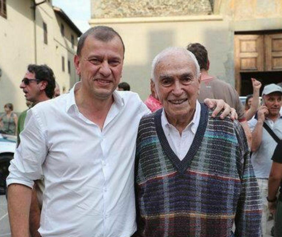 Remo Cattini con il Sindaco di Scarperia e San Piero, Federico Ignesti