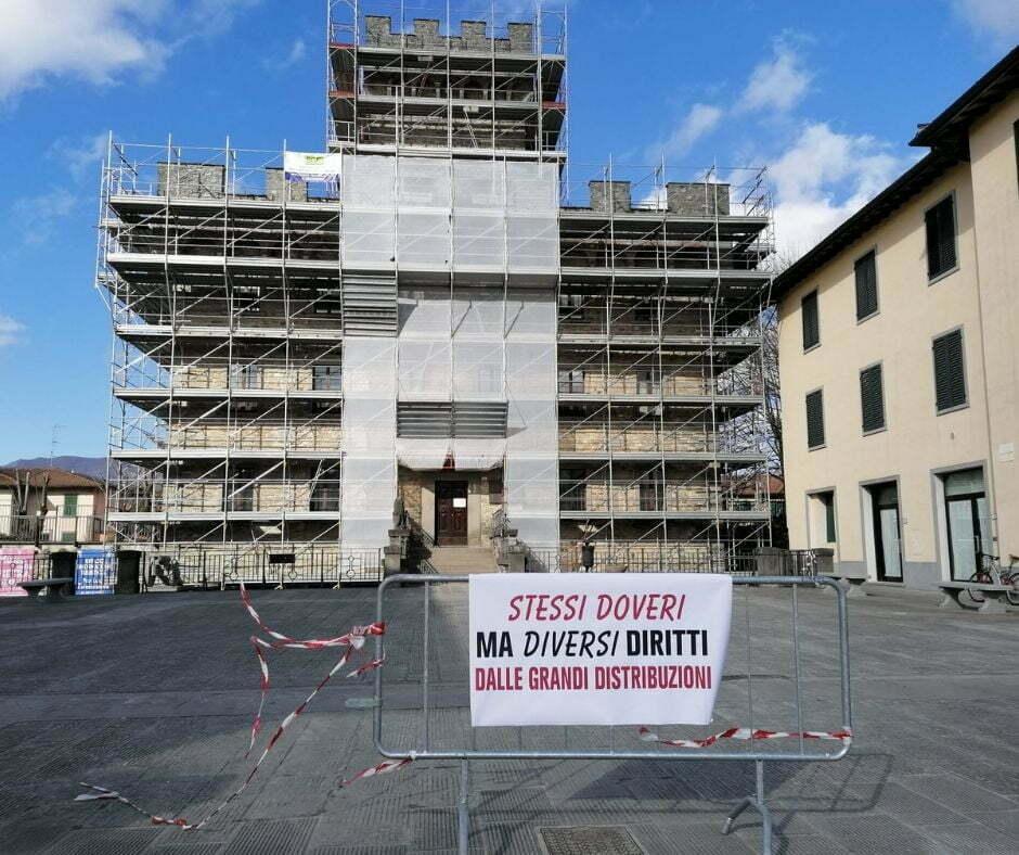 Sciopero dei commercianti e degli artigiani di Firenzuola per le chiusure