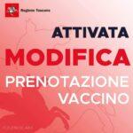 Attivata modifica prenotazione vaccini