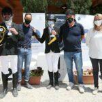 Da sx Bruno Tarca, Andrea Torelli, Tommaso Sparti, Stefano Serni (Presidente Fise Toscana), Simona Erniani (Presidente di Giuria)