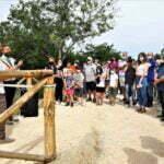 Momento inaugurazione passerella pedonale Piandrati - Dicomano