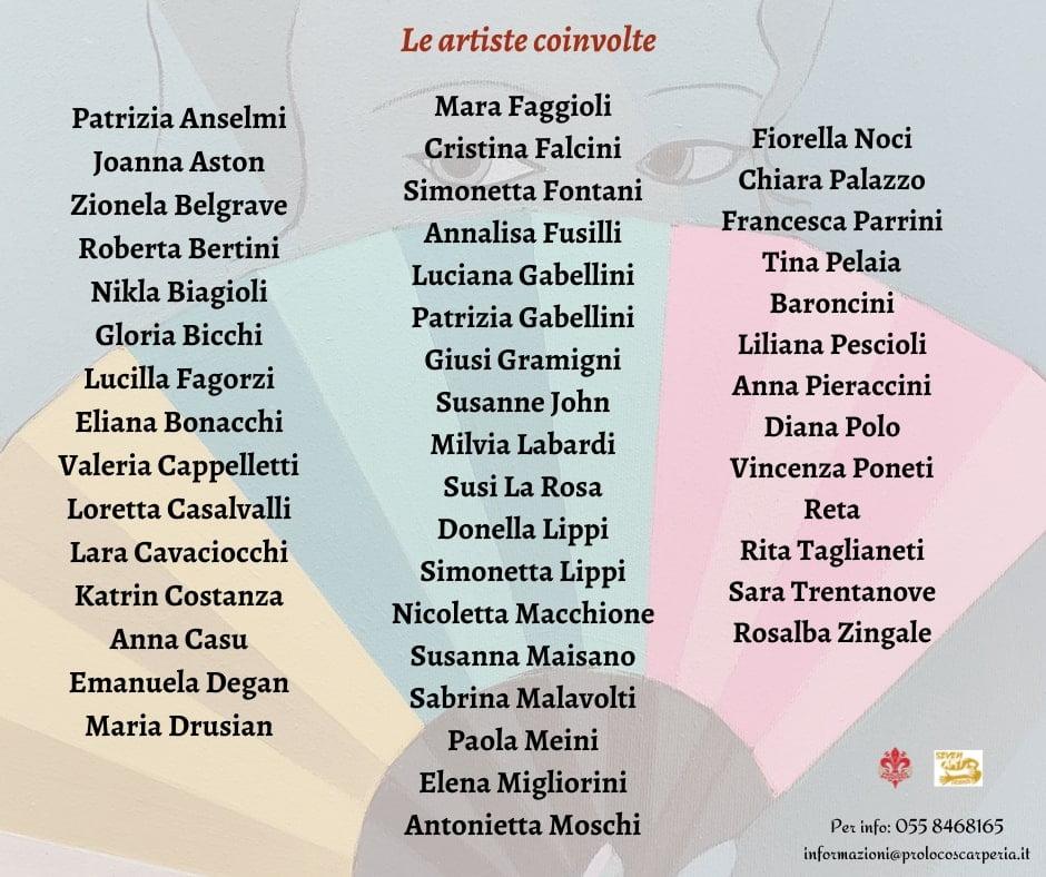 Artiste coinvolte Percorsi d'arte al femminile