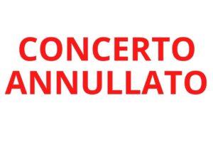 Concerto annullato