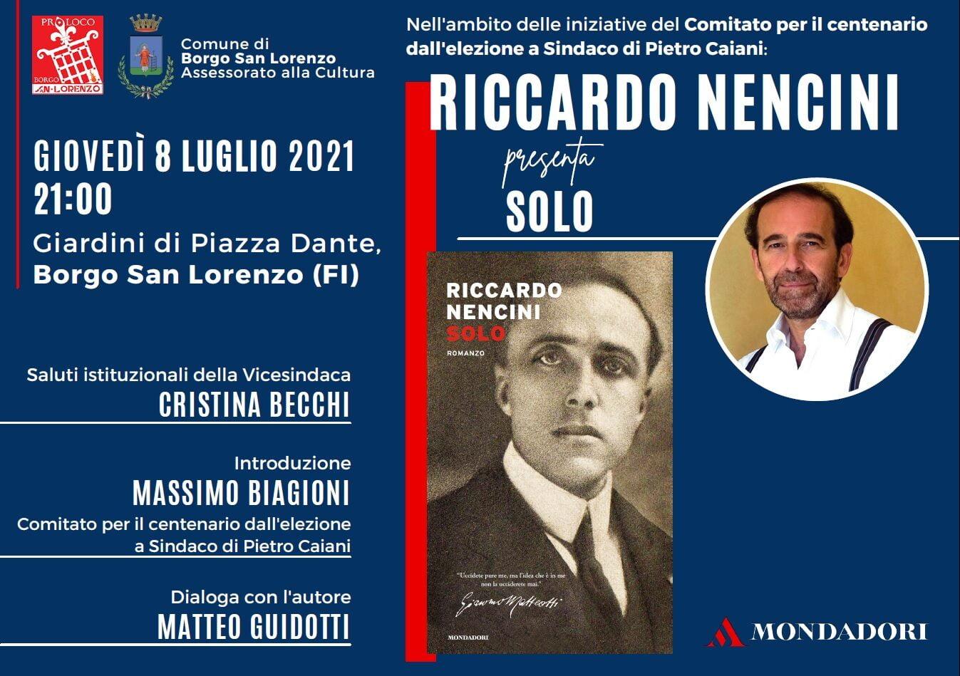 Presentazione Libro Nencini a Borgo