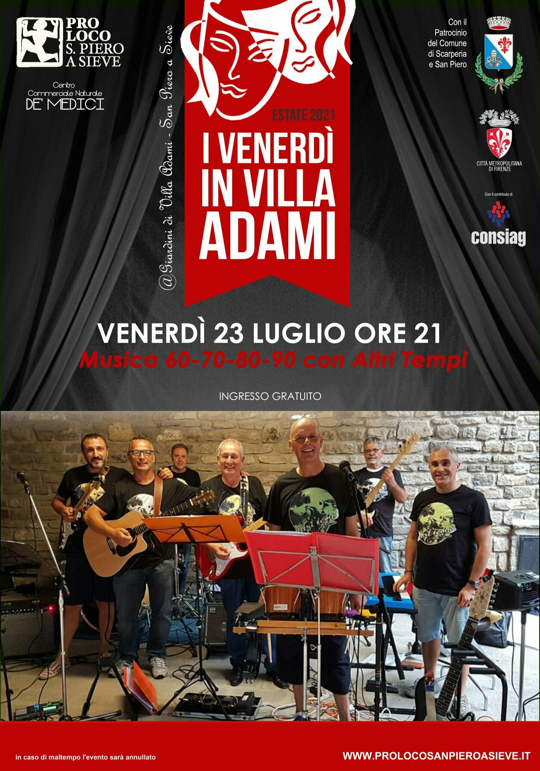Venerdi a Villa Adami 23 Luglio 2021
