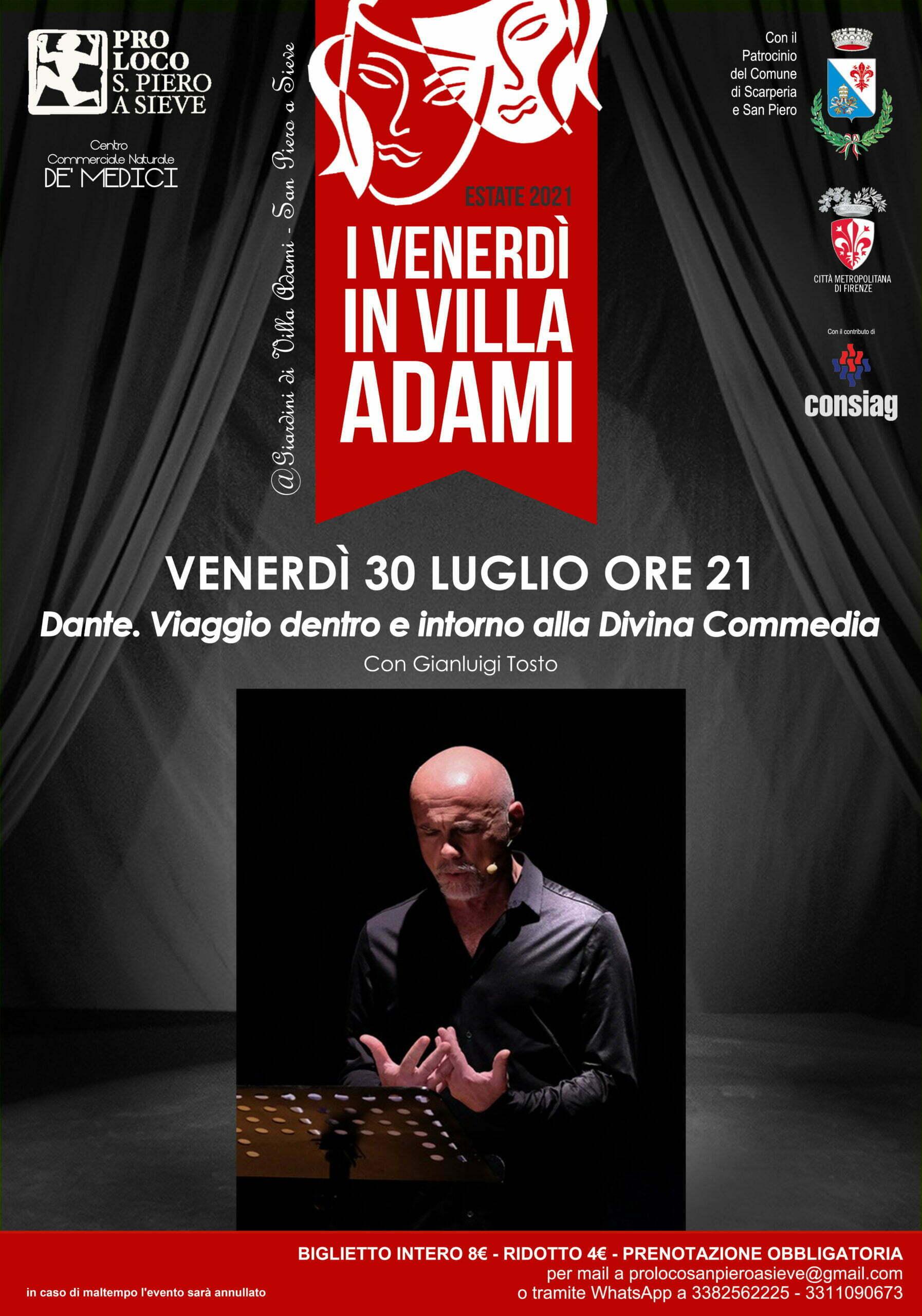 Venerdi a Villa Adami 30 Luglio 2021