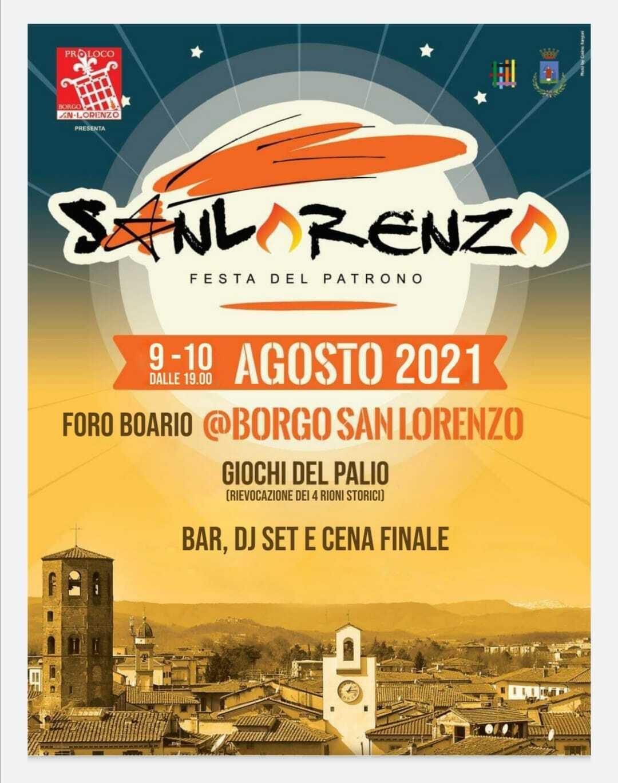Locandina Palio di San Lorenzo 2021