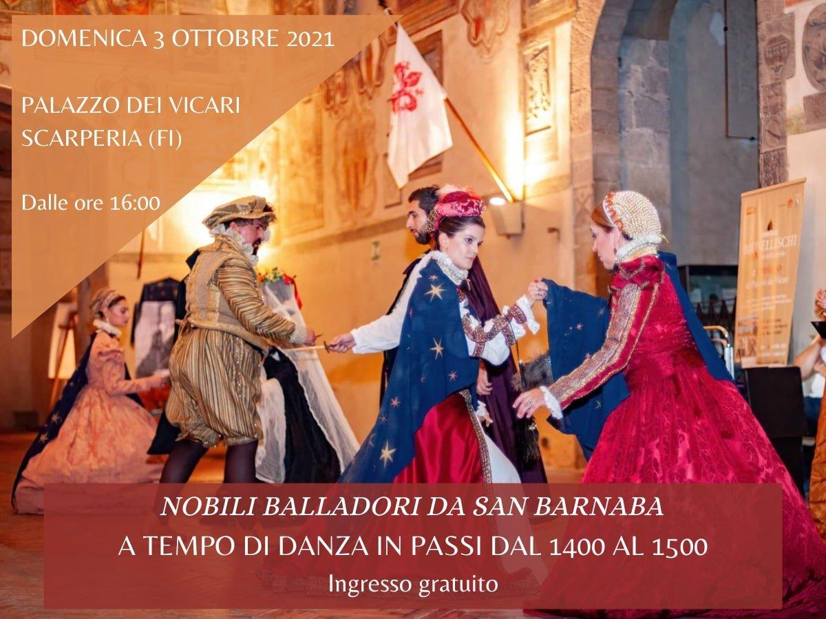 Evento di Scarperia 3 ottobre Nobili Balladori a tempo di danza