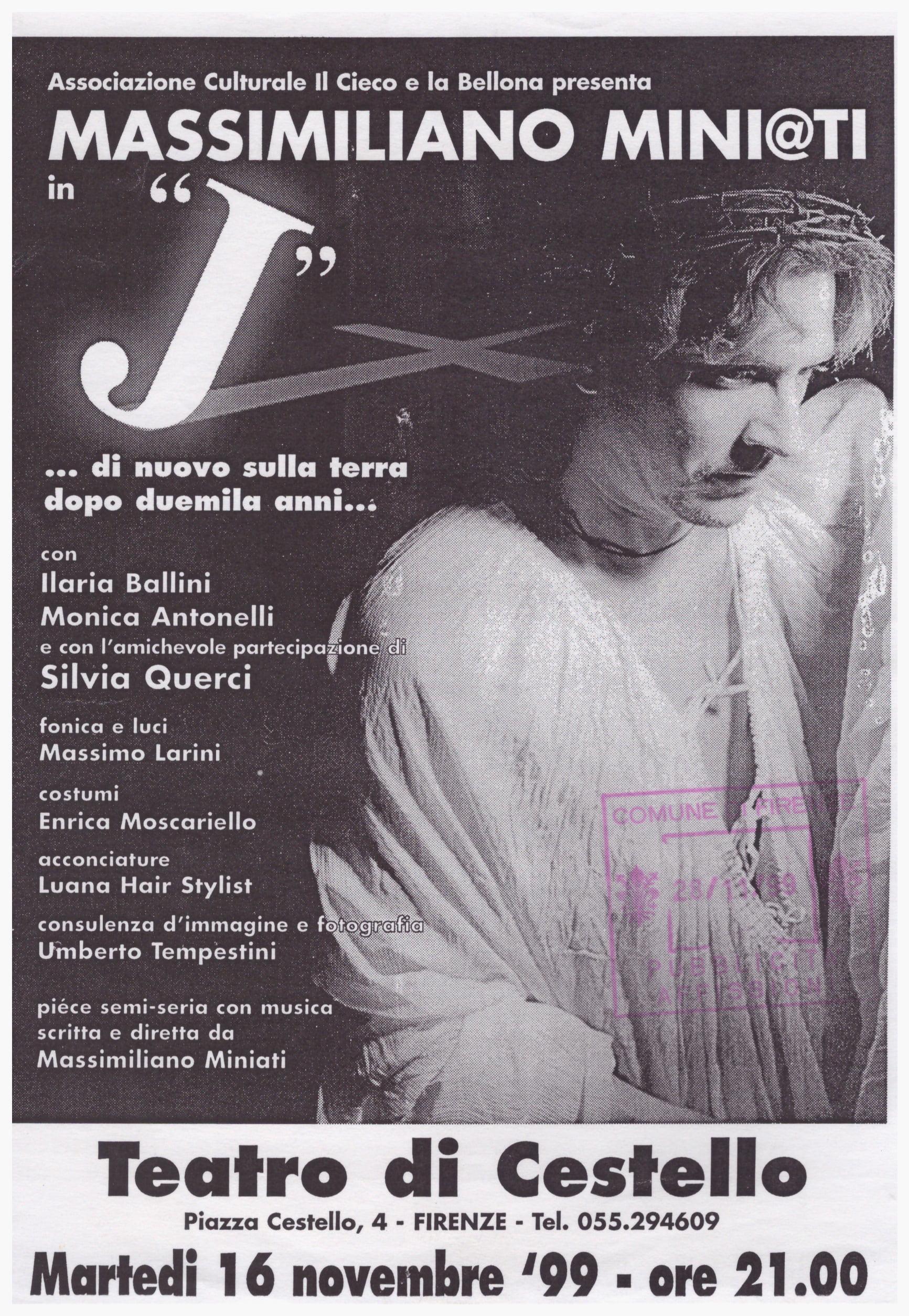 Locandina Spettacolo Miniati (anno 1999)