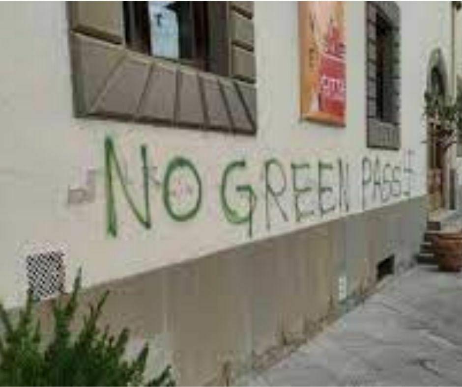 No Green Pass - Palazzo Comunale - Pontassieve