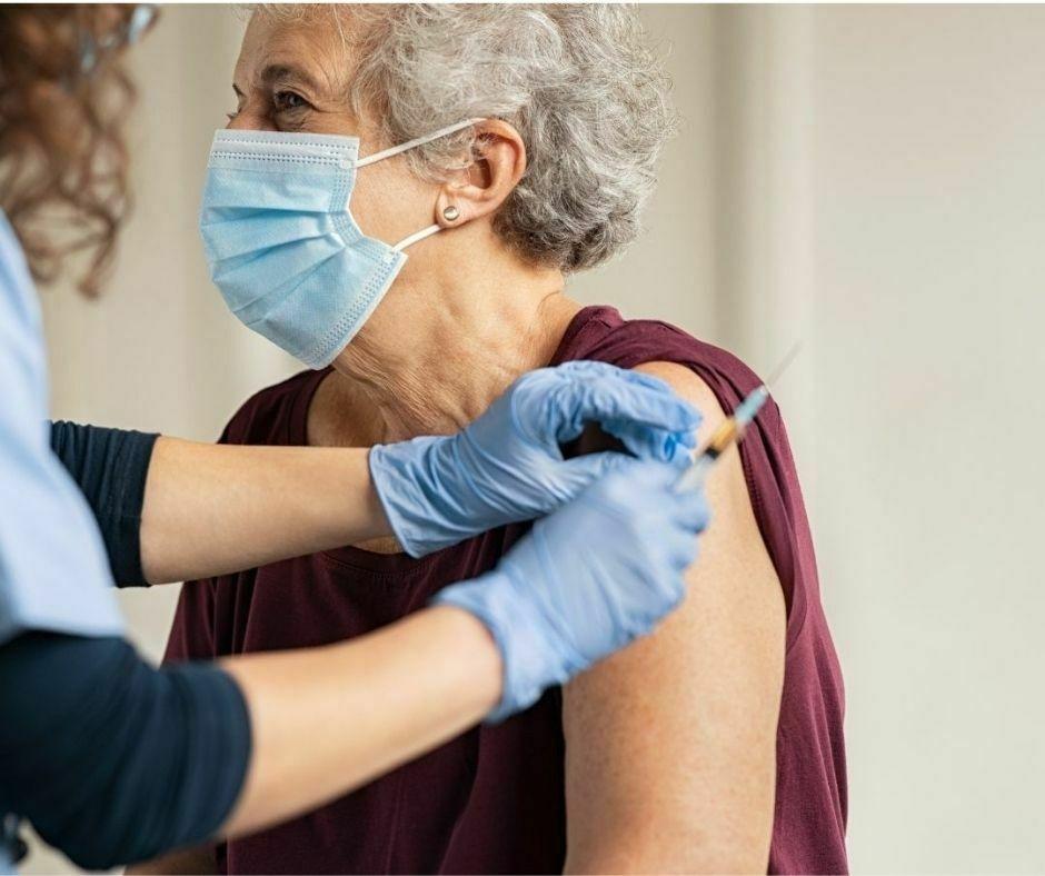 Persona che si vaccina