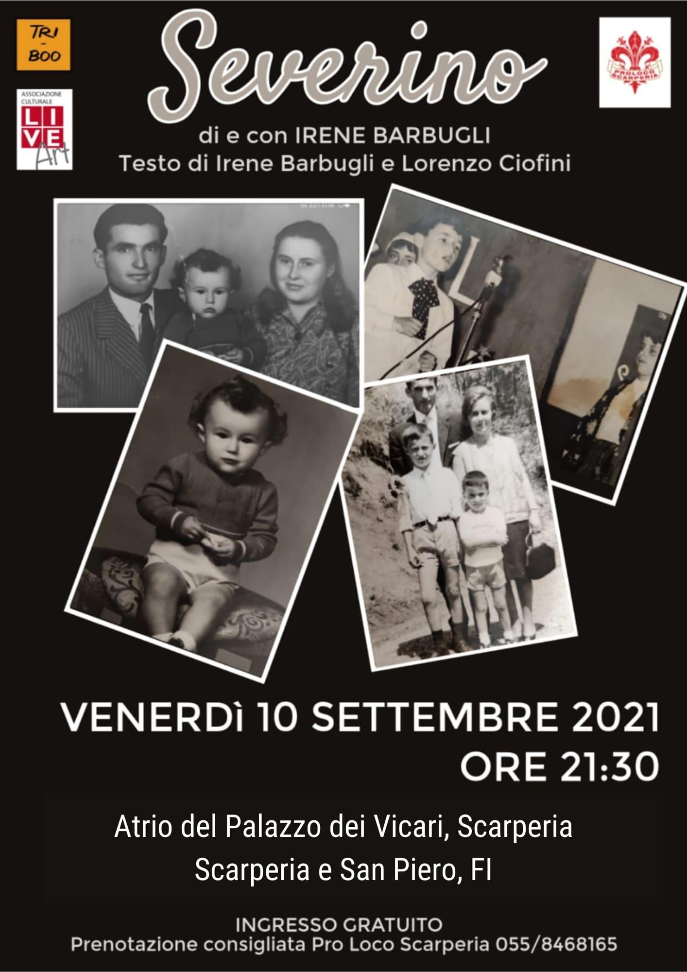 Severino, Spettacolo teatrale Palazzo dei Vicari 10.09.21